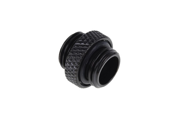 Alphacool Eiszapfen double nippel G1/4 outer thread to G1/4 outer thread - deep black
