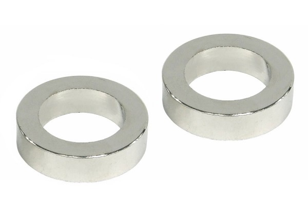 Spacer rings (2 pieces x 5mm) - silver nickel plated