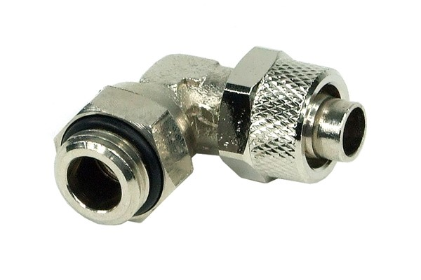 11/8mm (8x1,5mm) compression fitting 90° revolvable outer thread 1/4