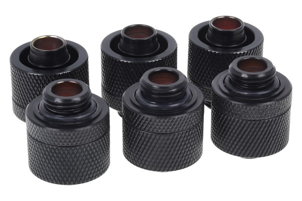Alphacool HF 16/10 compression fitting G1/4 - deep black sixpack
