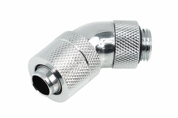 Alphacool HF 13/10 (10x1,5mm) compression fitting 45° revolvable G1/4 - Chrome