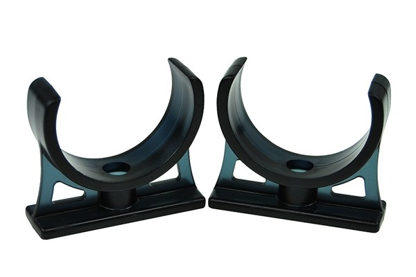 Alphacool Reservoirs holder ABS black 2 pieces for 50mm tubes