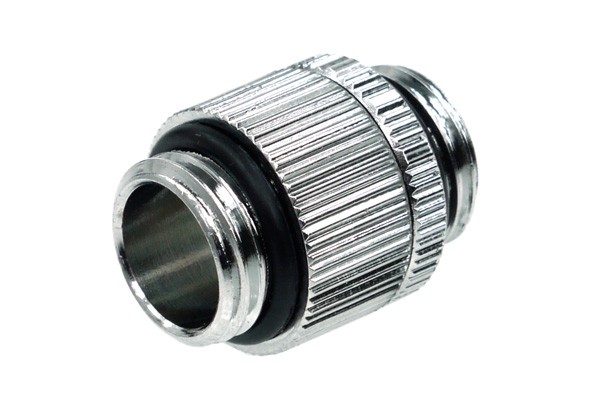 Alphacool double nipple G1/4'' outer thread to G1/4'' outer thread revolvable - chrome